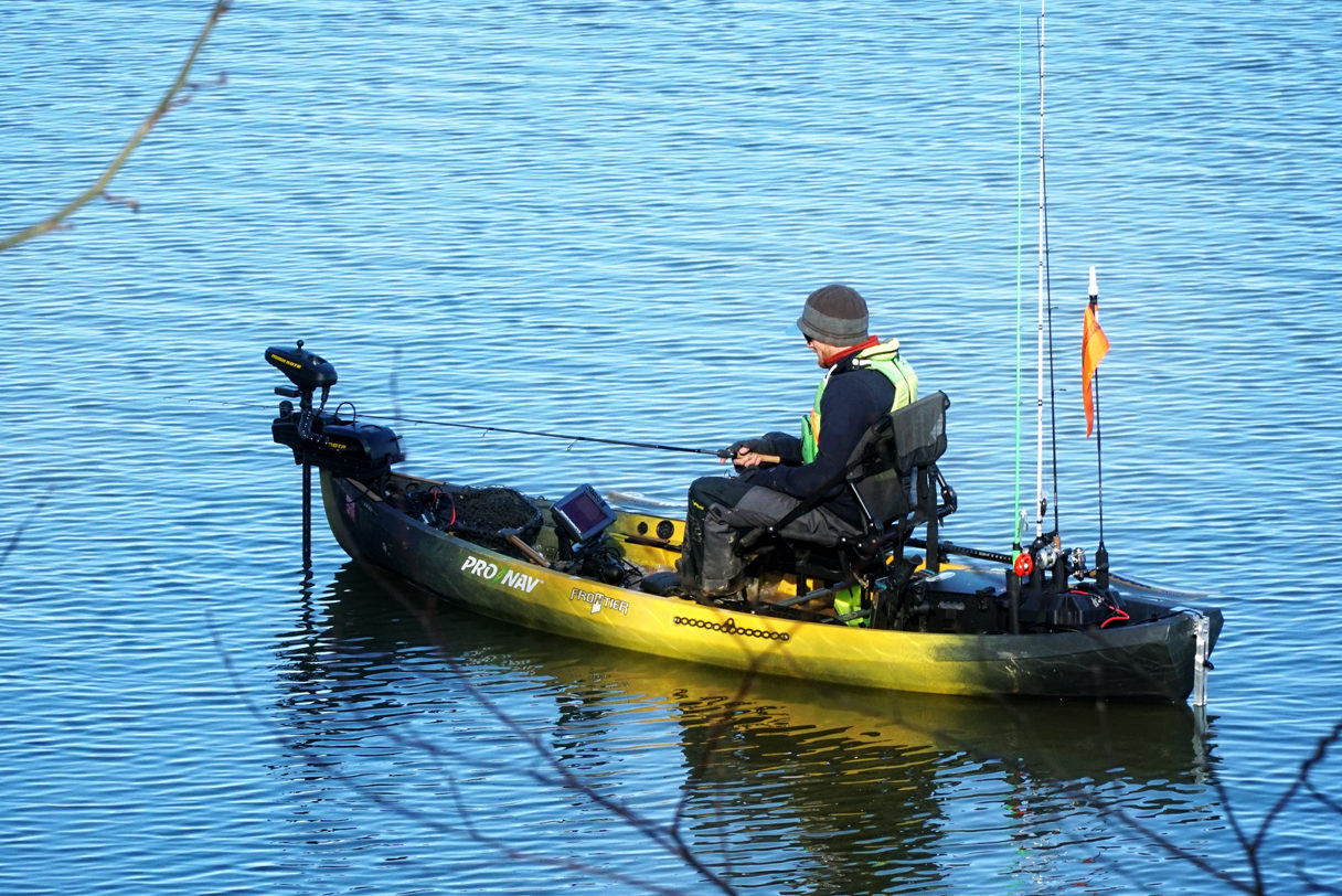 Kayak Fishing With Electric Trolling Motors And Gps Autopilot