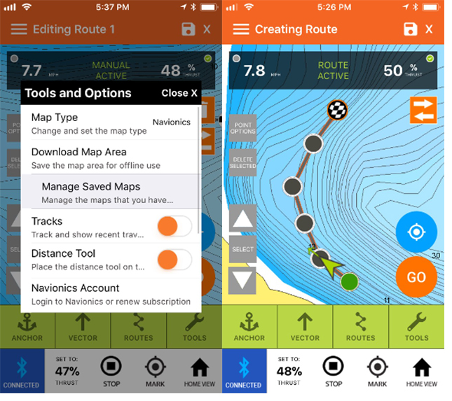 An App to Drive your Boat? How to drive with a phone or tablet!